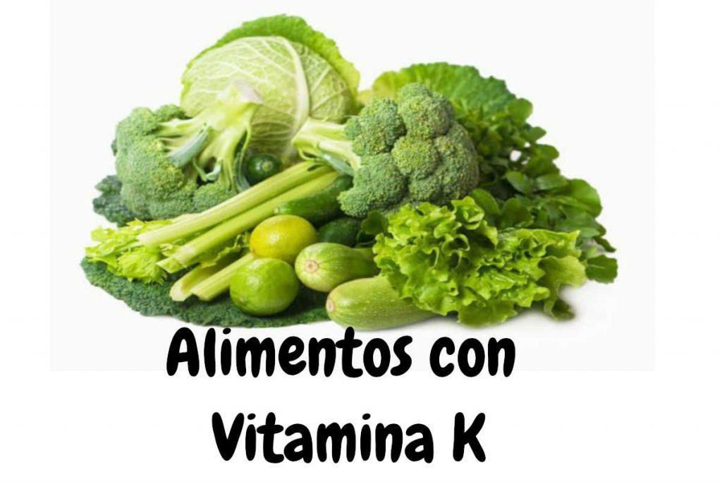 Ricos vitamina sintrom en alimentos k